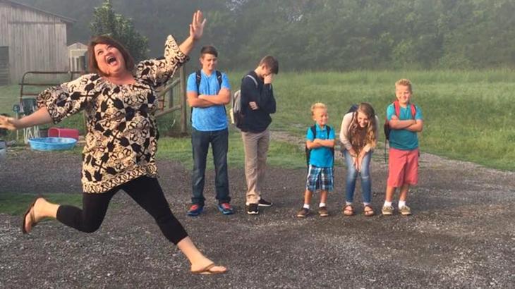 Mom Keshia Gardner's Epic Back-to-School Photo